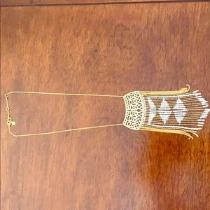 Stella & dot gold beaded necklace great condition
